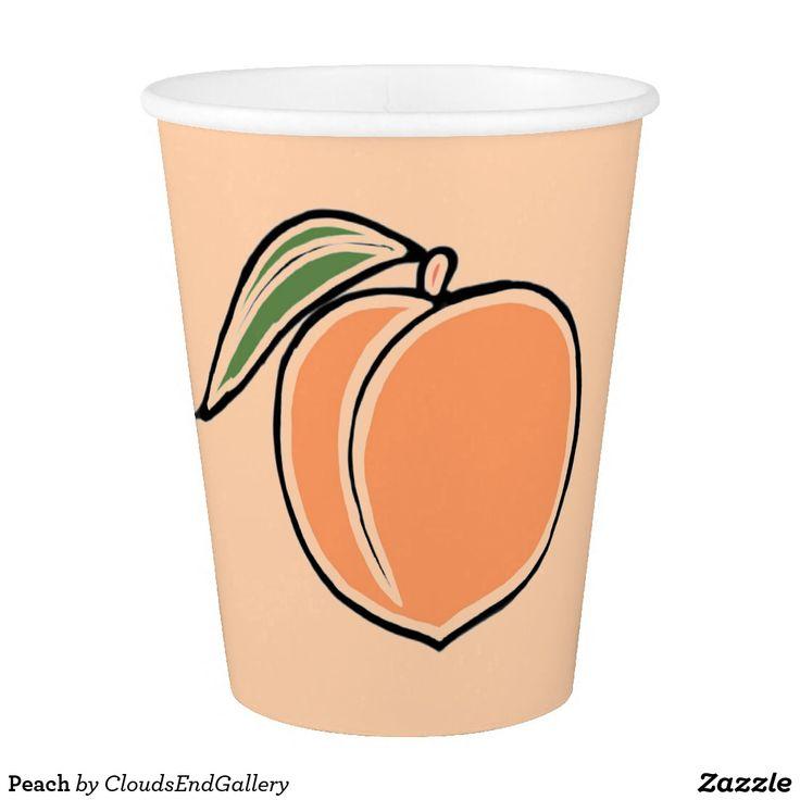 Peach Paper Cup  sc 1 st  Pinterest & 40 best Fun Fruit Party Supplies (Paper Plates Cups etc) images on ...