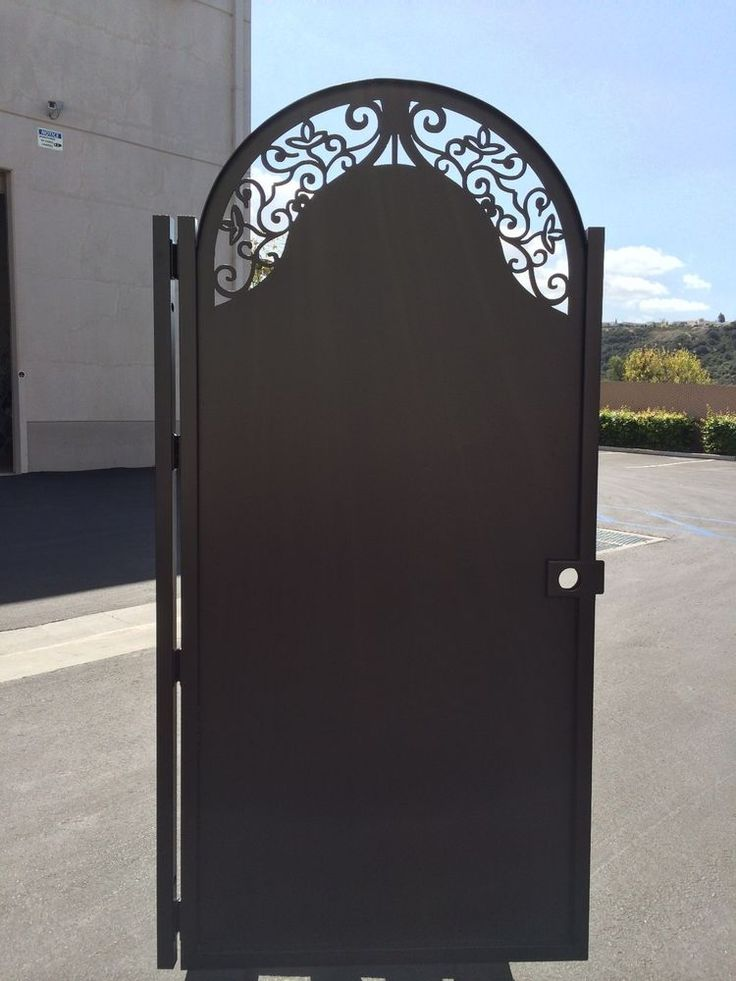 Solid metal gate factory direct sale wrought iron garden