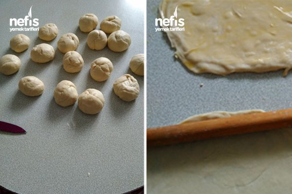 Kolay El Açması Ispanaklı Börek Yapımı 2