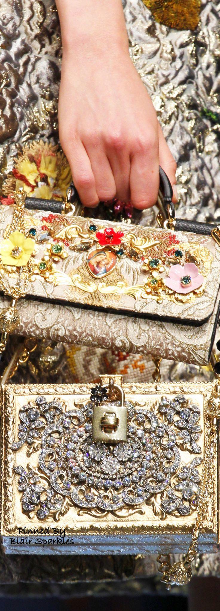 SPRING RTW 2016 (MFW) Dolce & Gabbana { Details } ~ ♕♚εїз | BLAIR SPARKLES |