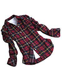 New CHIGANT Womens Flannel Plaid Boyfriend Shirt,Long Sleeve Ladies Casual Button Down Blouse Top online. Find the perfect Evelie Tops-Tees from top store. Sku IVSN17641RSXF25440