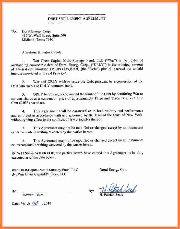 Private Settlement Form Unique 5 Debt Settlement Agreement Agreement Debt Settlement Templates