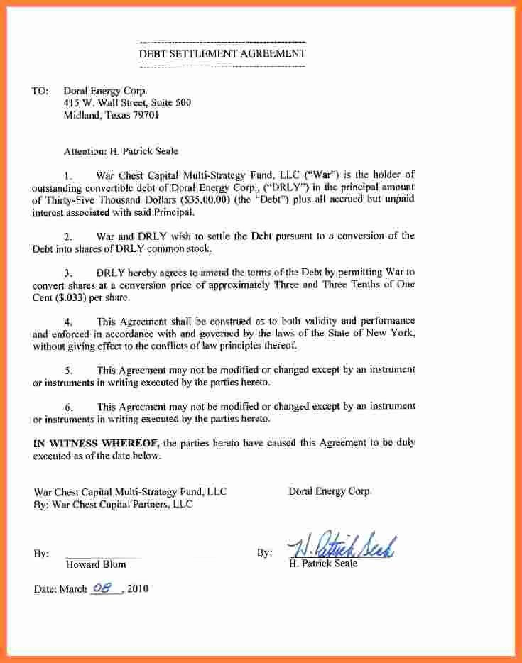 Payment Settlement Agreement Elegant 2019 Debt Settlement Agreement Form Fillable Printable Debt Settlement Divorce Settlement Agreement Agreement Letter