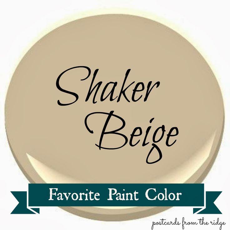 Postcards from the Ridge: Benjamin Moore Shaker Beige ~ Favorite Paint Color