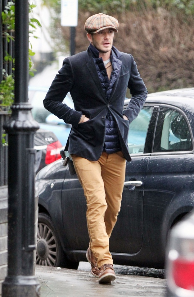 David Beckham Out In London