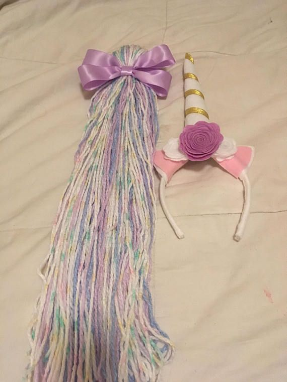 Unicorn headband and tail