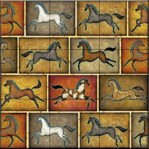 Southwest Horse 8 by Dan Morris - Kitchen Backsplash / Bathroom wall Tile Mural Tile Mural Store-Animals,http://www.amazon.com/dp/B00BDNS4V0/ref=cm_sw_r_pi_dp_qOwKsb17DEWPV462