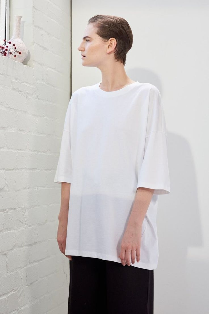 Kowtow Building Block Tall Tee, White