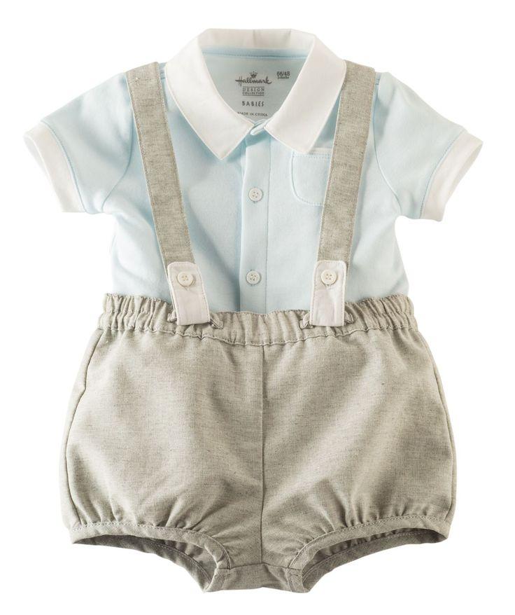 Baby Boy Little Lad Suspender Romper Set | Hallmark Baby Clothes