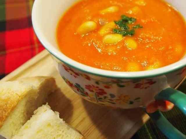 お手軽!エビのビスク風スープの画像