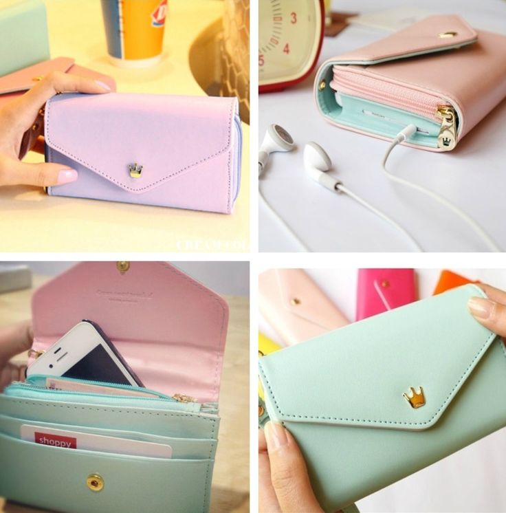 This Wallet Case Is Perfect For Any Occasion Any Phone Model!Material: LeatherFits All Phone ModelsCompatible Phone Model: IPhone 4/4S/5, Galaxy S2/3/4*The very light almost mint green case on the collage is sky blue*