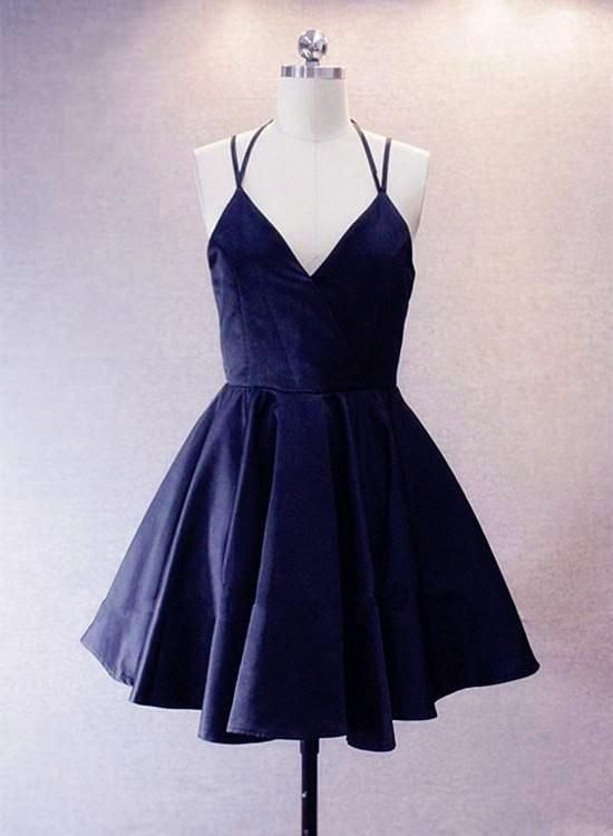 987f55d459312 Navy Blue Homecoming Dresses, Simple Pretty Prom Dress 2019 in 2019 ...