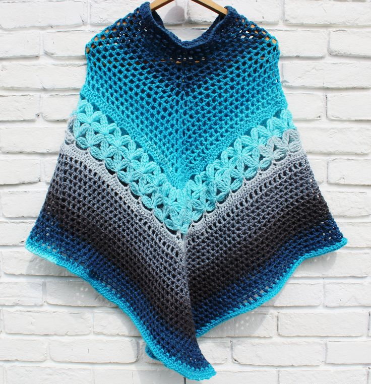 A free pattern to make a light weight crochet poncho with yarn cakes. Easy to follow pattern with link to video tutorial.