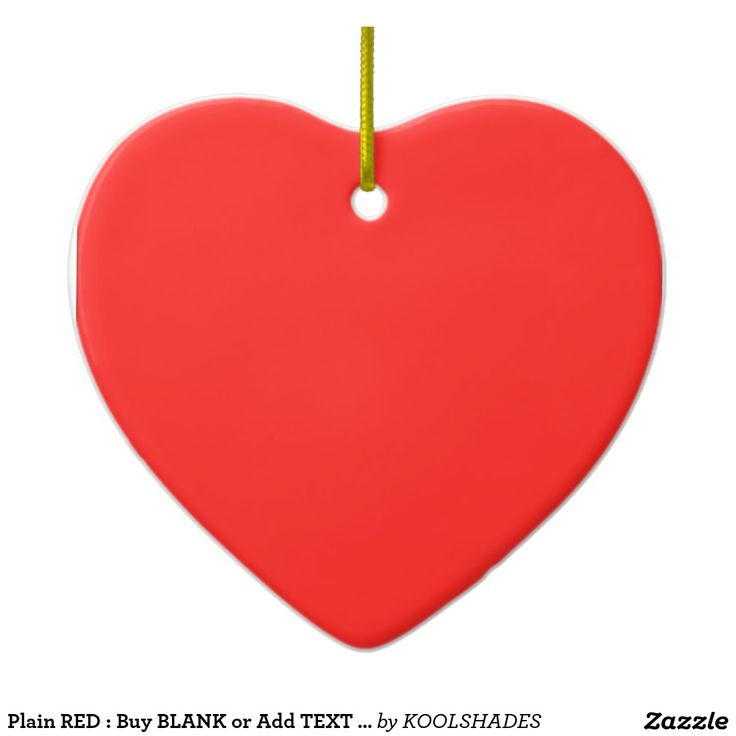 Plain RED : Buy BLANK or Add TEXT n IMAGE lowprice Double-Sided Heart Ceramic Christmas Ornament