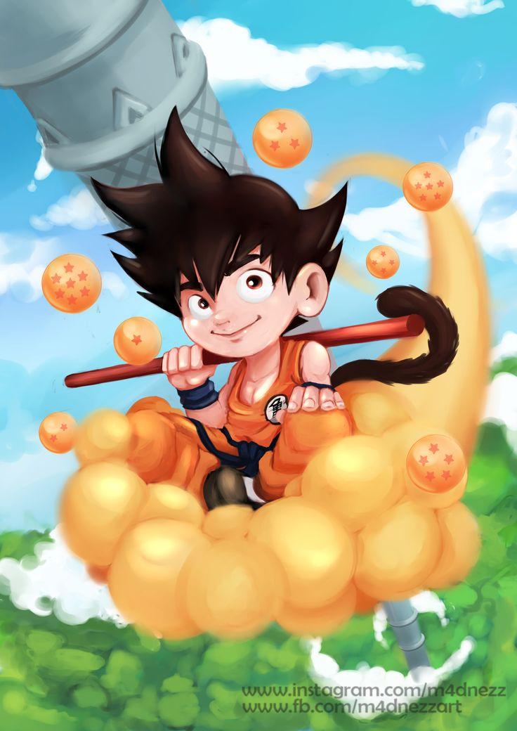 Kid Son Goku www.fb.com/m4dnezzart #goku #dbz #digital #drawing #songoku
