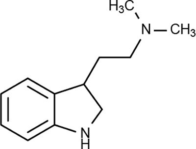 The molecular formula for dimethyltryptamine or DMT is C12H16N2.    The systematic name for DMT is 2-(1H-Indol-3-yl)-N,N-dimethylethanamine.