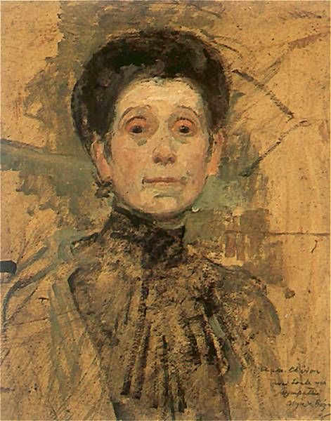 The Athenaeum - Self Portrait (Olga Boznańska - )