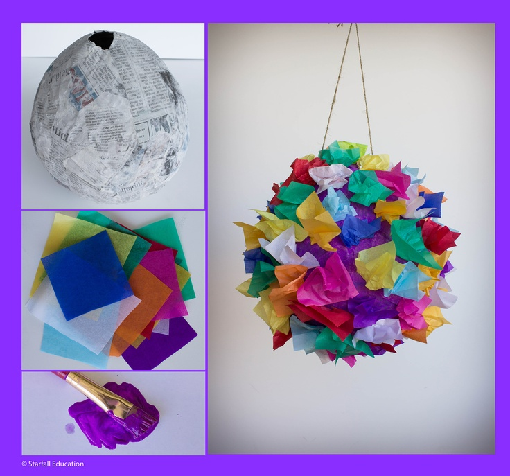 It is easy to make a pinata do paper mache over a balloon for Simple paper mache projects