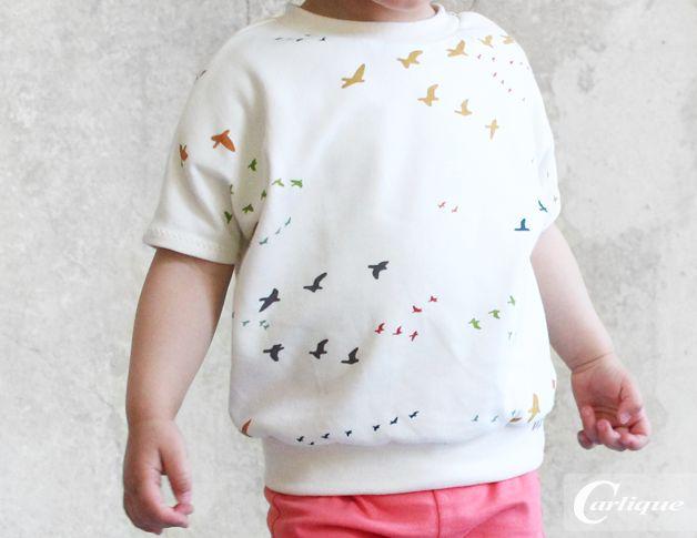 """T-Shirts - Bio Shirt """"colourful birds"""" - ein Designerstück von Carlique bei DaWanda"""