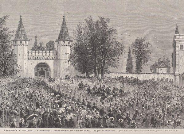 [Ottoman Empire] Funeral of Sultan Abdulaziz, Topkapi Palace, Istanbul, 1876 (Sultan Abdülaziz'in Cenaze Töreni)