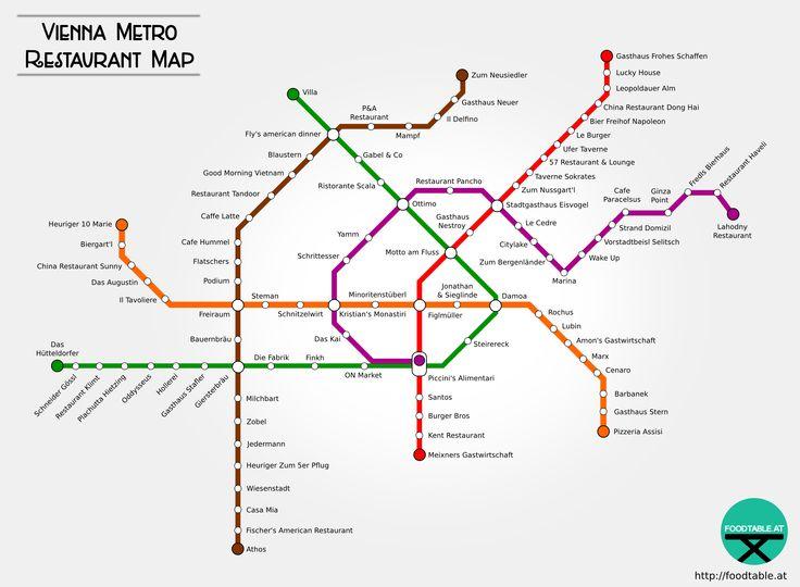 Seid Ihr auf der Suche nach Restaurants in eurer Nähe? Wir haben für euch Wiens ERSTE Metro Restaurant Map zusammengestellt! Mehr dazu in unserem Online Magazin! #wien #metrorestaurantmap http://foodtable.at/magazin/wien-metro-restaurant-map/