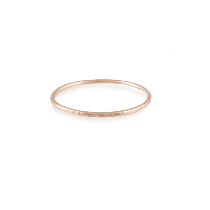 I want... 9ct Rose Gold Hammered Ring  Made To Order by nikkistarkjewellery, £35.00