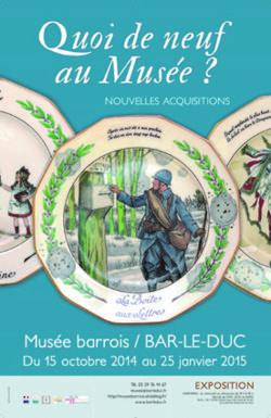 Quoi de neuf au musée ? Nouvelles acquisitions du Musée Barrois à Bar le Duc dont deux peintures de Patricia Erbelding