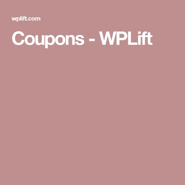 Coupons - WPLift