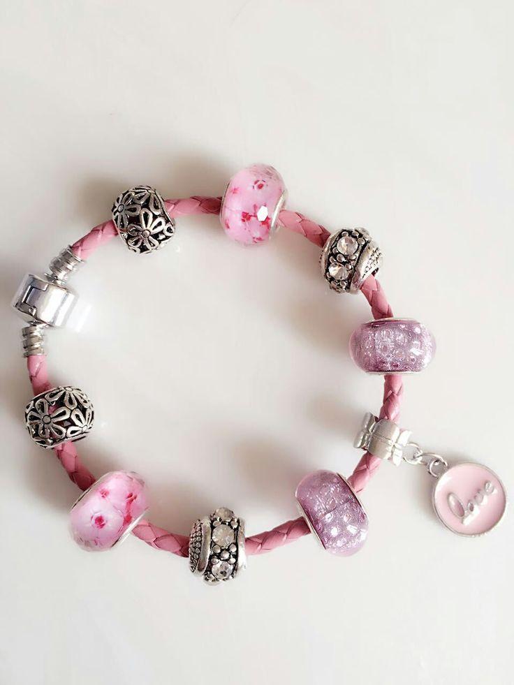 Купить товар2016 симпатичные розовая кожа женщины любят серебряный браслет…