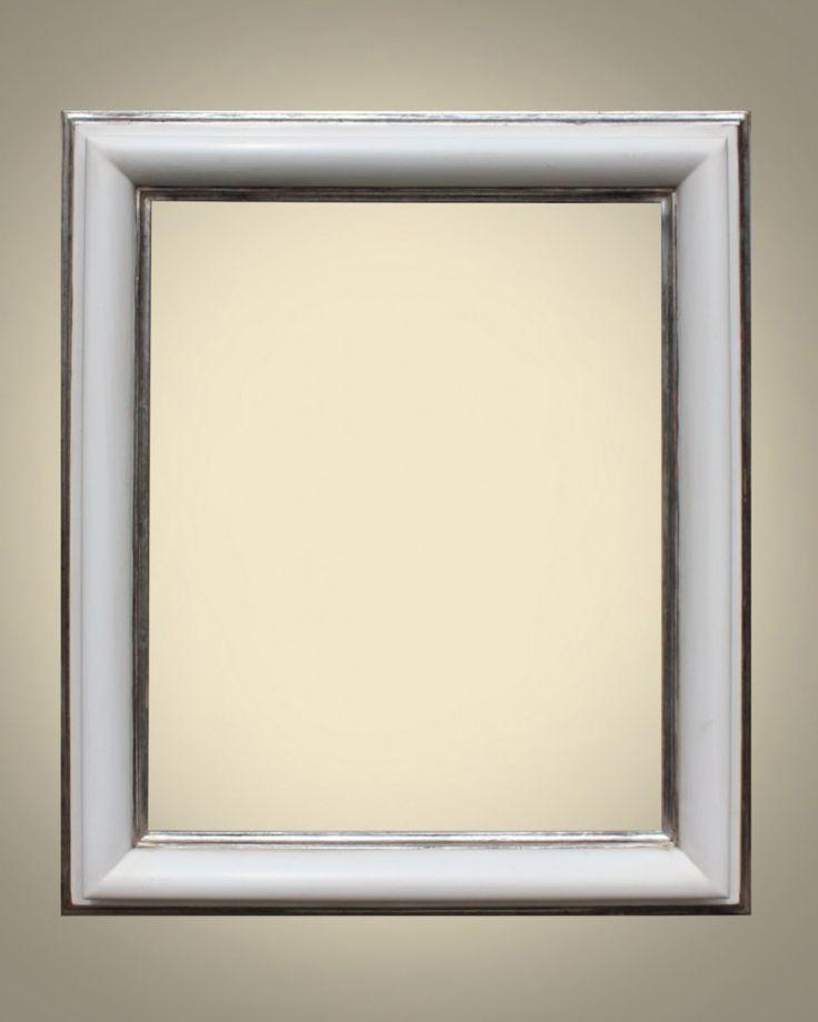 Cornici Laccate oro a guazzo 697/8 Bianco argento nel
