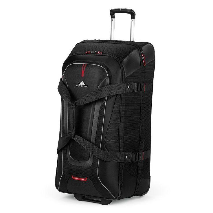 High Sierra AT7 32-Inch Rolling Duffel Bag & Backpack, Black