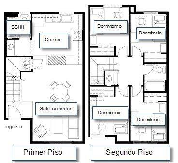 Casa pequena de 4 quartos