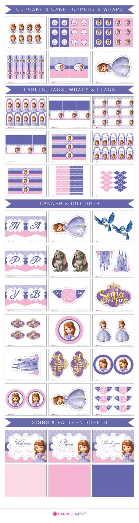 Sofia The First Birthday Sofia The First invitation by DellaEvents