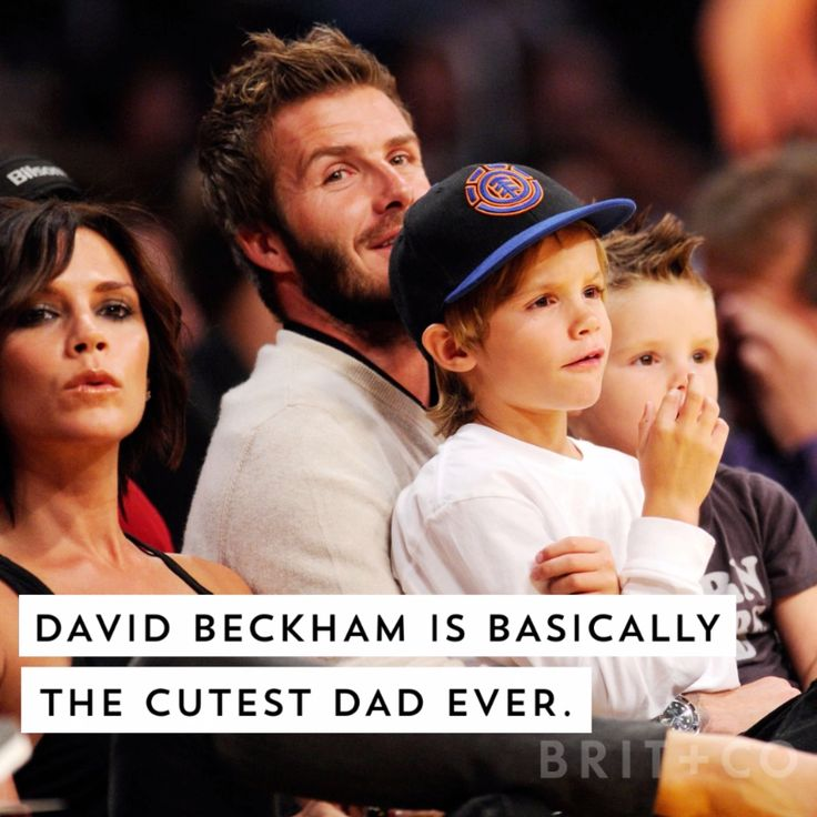 Watch this video and you'll discover that David Beckham is basically the cutest dad ever.
