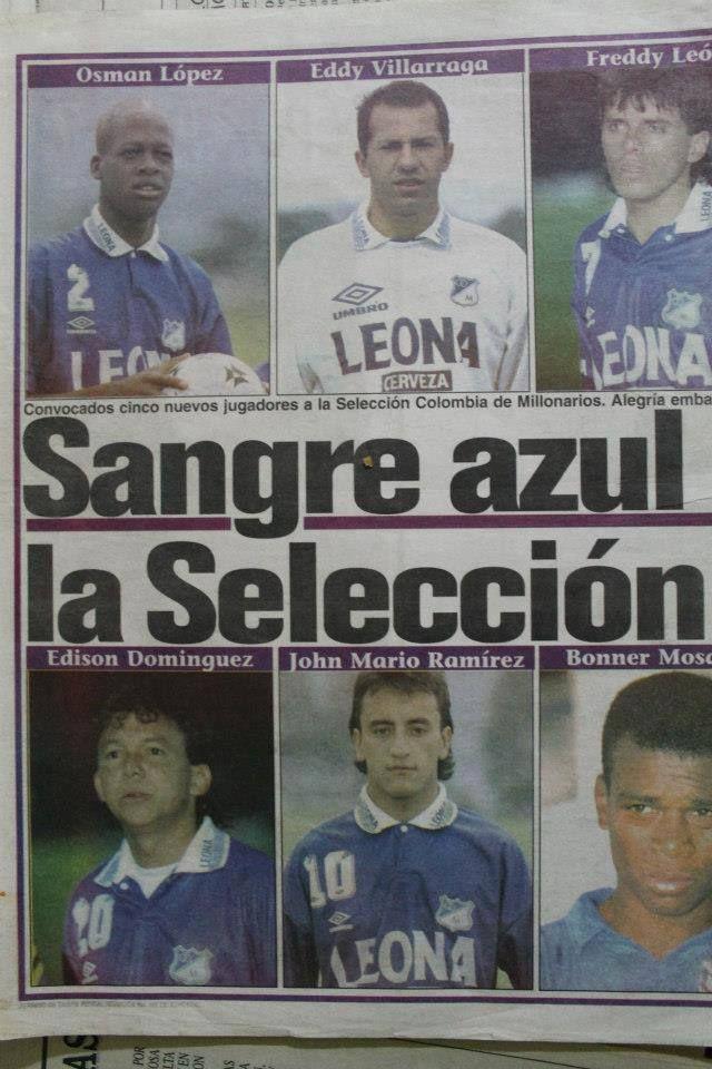 De MIllonarios para la Selección Colombia.