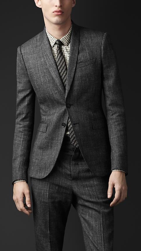 Burberry Prorsum Slim Fit Tweed Jacket