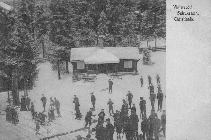 Christiania, vintersport, Gulrukstuen.Nordisk Tobak- & Stykvaremagasin 1906 nr. K 8501