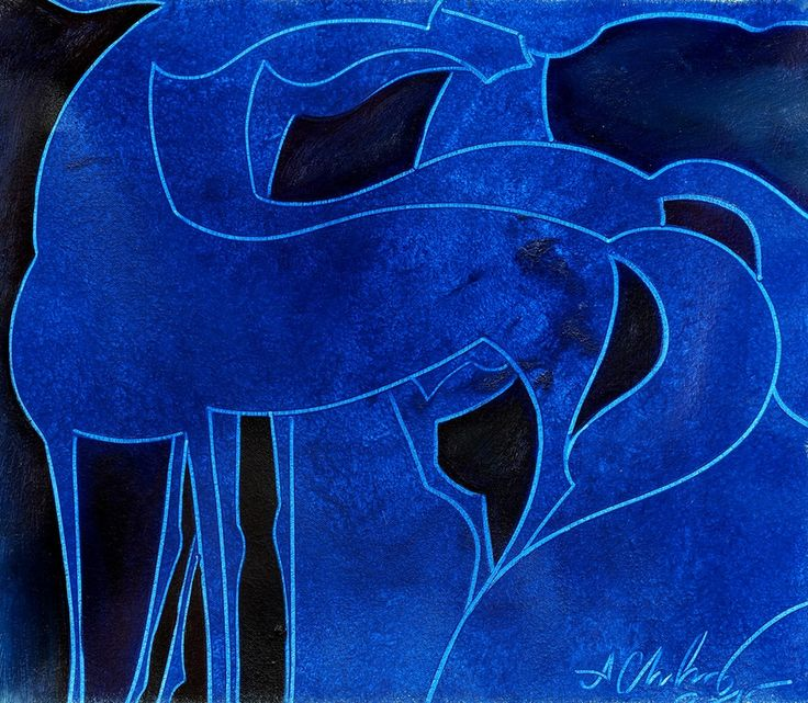 HORSE COMPOSITION #31 by Chadraabal Adiyabazar Equine Art for Sale - ART101 Art Gallery & Framing