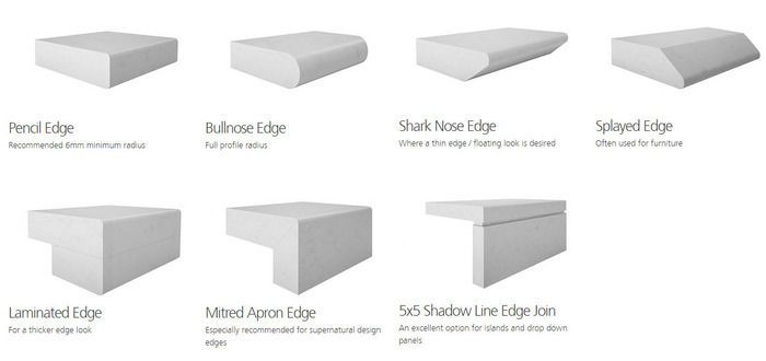 stone benchtop engineered edge - Google Search