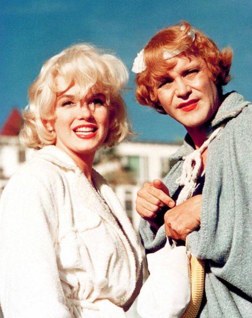 "Marilyn und Jack Lemmon  ""Some like it hot "" 1958."