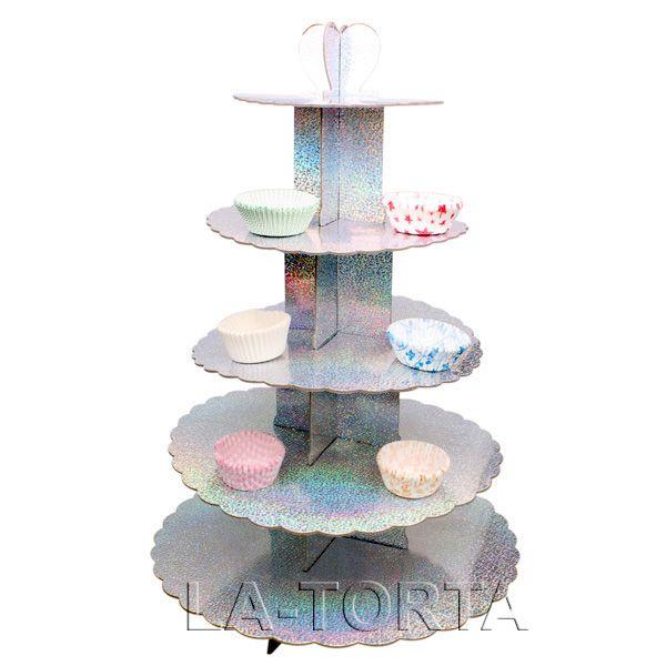 Стенд для торта состоит из 5 ярусов Характеристики: Диаметры: 19,5см, 25см, 29см, 34см и 40см Высота - 57 см Страна-производитель - Китай http://la-torta.ru/product/stend-dlya-maffinov-svadebnyy http://la-torta.com.ua/index.php?productID=12209