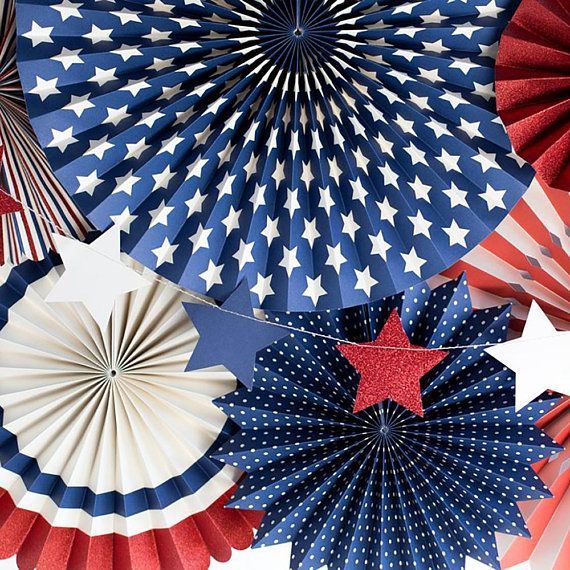 Red White And Blue Stars 4thofjuly America Fourthofjuly Usa Patriotic Decorations Party Patriotic Decorations 4th Of July Decorations
