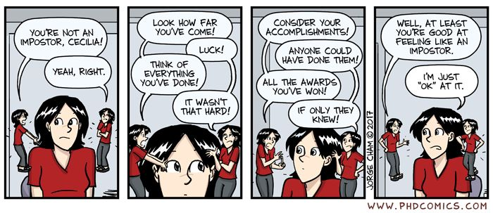 PHD Comics: Impostor, Pt. 3 At least you're good at something