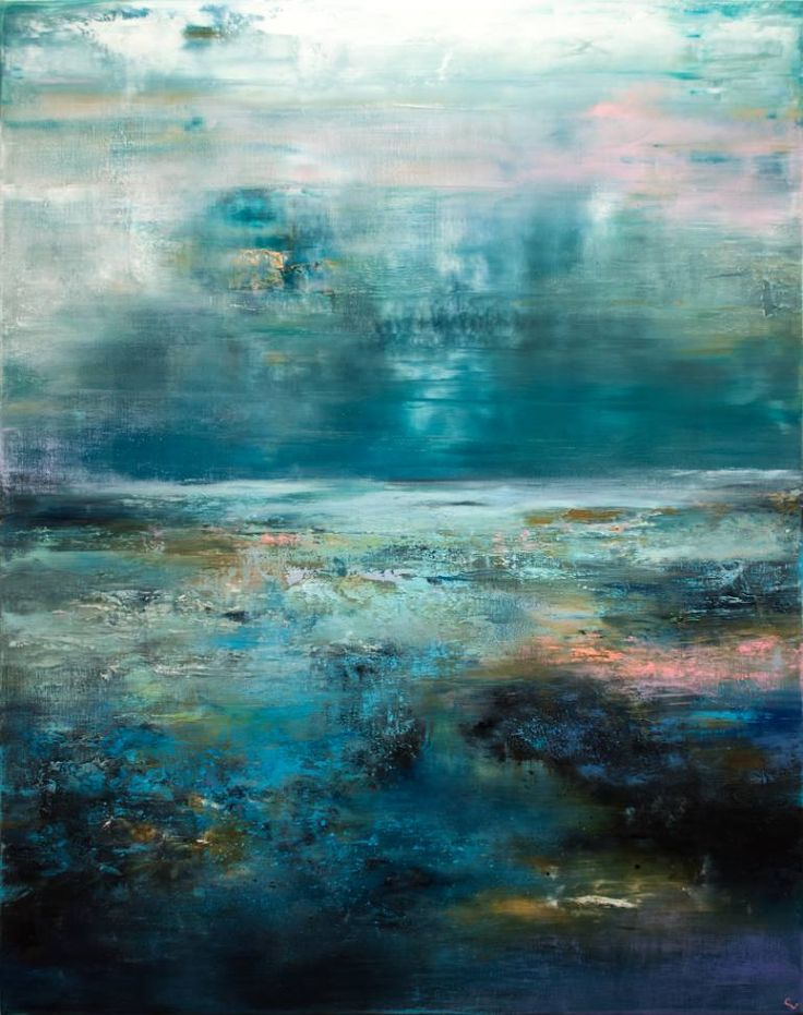 "Saatchi Art Artist Chris Veeneman's abstract painting, ""The Blues"" #art 