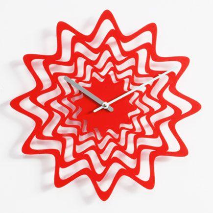 'flux wall clock' designed by karim rashid for progetti, italy