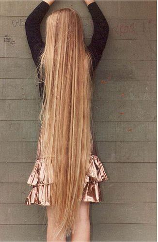 super long, long hair