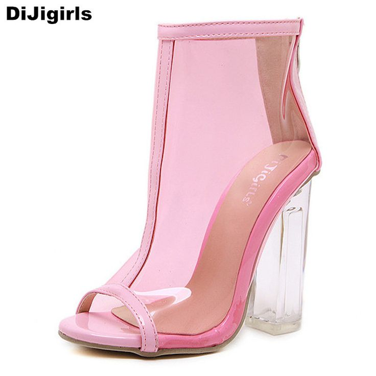 >> Click to Buy << 2017 Brand Transparent Shoes Women Sandals Fashion Summer Ankle Boots High Heels Open Toes Ladies Shoes Pink Pumps #Affiliate