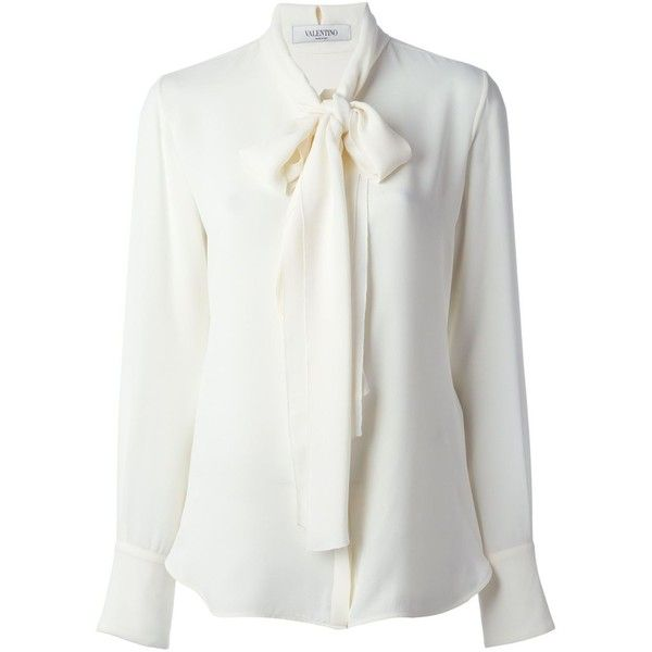 Images of White Blouse With Bow - Reikian