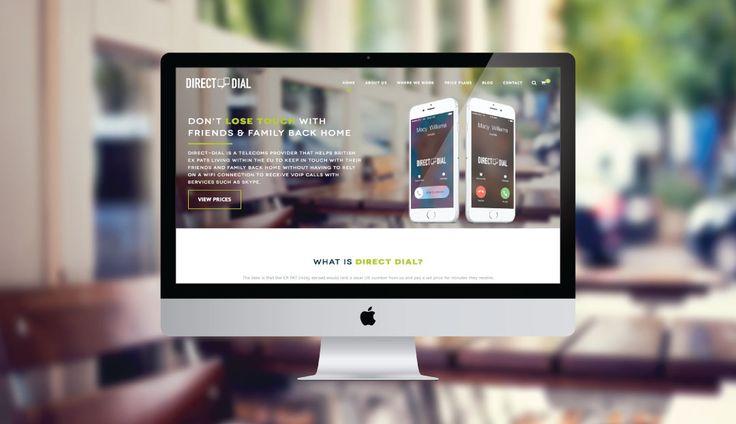 DIRECT DIAL - from our #WordPress #WebsiteDesign Portfolio! #WebDesign #Derby