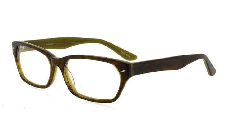 Vogue Eyeglass Frame Clear On Bottom Green And Black On Stem 20